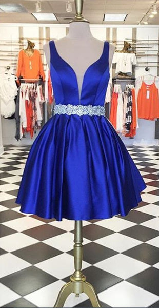 Cute Royal Blue Short Homecoming Dress S12177