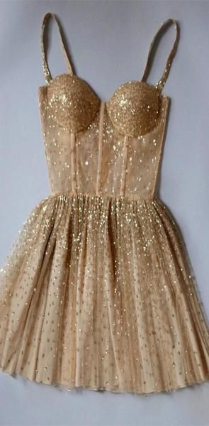 Cute Sparkly Beaded Sweetheart Homecoming Dresses S11695