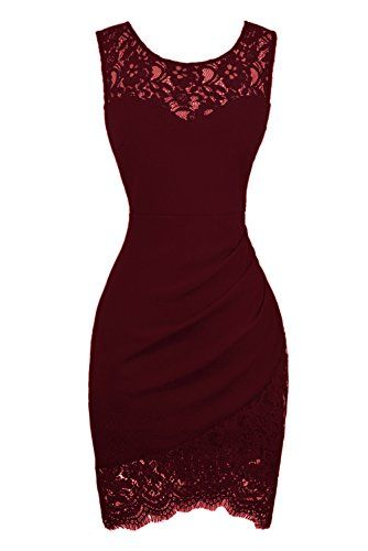 Sexy Lace Burgundy Sheath Short Homecoming Dress S11298