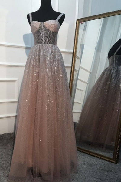 Sparkle Tulle Long Formal Gown Long Prom Dress S11541
