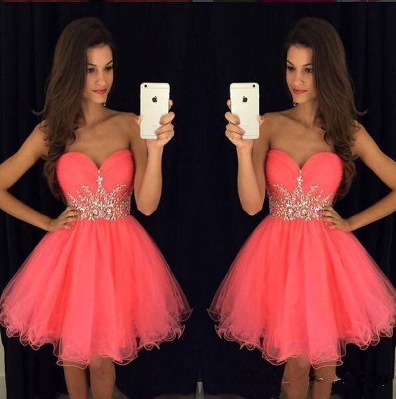 Sweetheart Homecoming Dresses,Pretty Party Dress  S12372