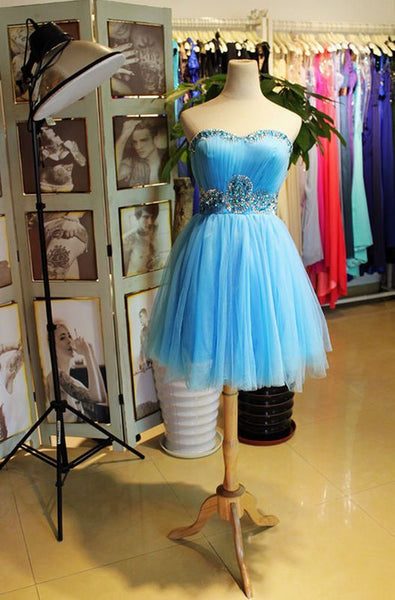 Beautiful Tulle Short Knee Length Beaded Homecoming Dress S11184