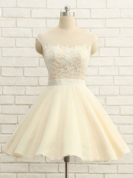 Cute O-Neck Homecoming Dresses, Lace Homecoming Dresses,   S6806