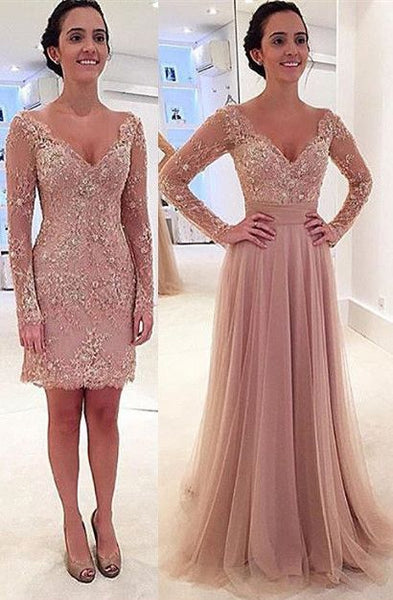 Long sparkly Prom Dress,dusty pink Prom Dress,long sleeve prom dress  S6822