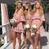 beach dusty pink cheap short homecoming dresses S11010
