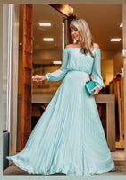 Off The Shoulder Long  Prom Dress S7105