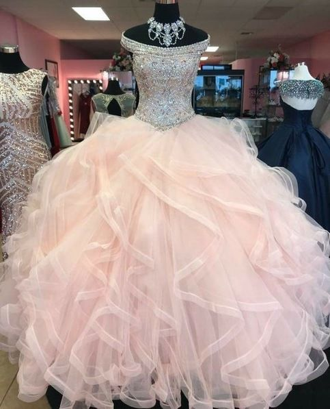 Pink Ball Gown Quinceanera Dresses Princess Gown Prom Dress  S11890