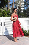 Sexy Prom Dress,Red Prom Dress,Lace Prom Dress,Spaghetti Prom Dress S9183