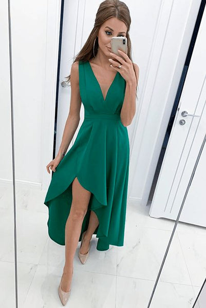 A-Line Green Homecoming Dress  , Charming Homecoming  Dress    S696