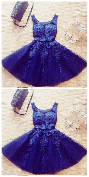 Homecoming Dresses,Short Homecoming Dress With Appliques,A Line Homecoming Dress,Cute Homecoming Dresses  S737
