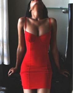Summer Sexy Red Bandage Dress Women Bodycon Spaghetti Strap Homecoming Dresses   S812