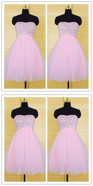 Sweetheart Pink Short Homecoming Dress , Cute Tulle  Homecoming Dress    S824