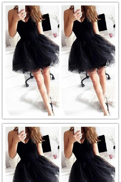 Black  Short   Homecoming Dresses    S826
