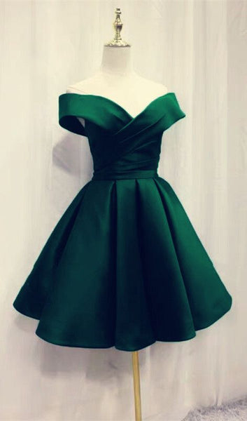 Short Emerald Green Homecoming Dresses  S837