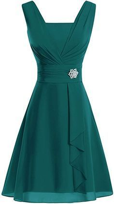 V Neck Knee-Length Chiffon Mother Of The Bride Dresses  , Charming Prom Dress  S867