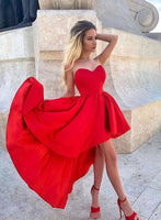 Red sweetheart neck short homecoming dress, red homecoming dress   S926