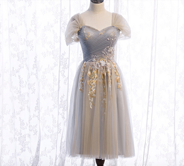 Sweetheart tulle lace homecoming dress S23322