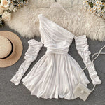 Elegant Empire Waist Off Shoulder Short Homecoming Dresses S23573