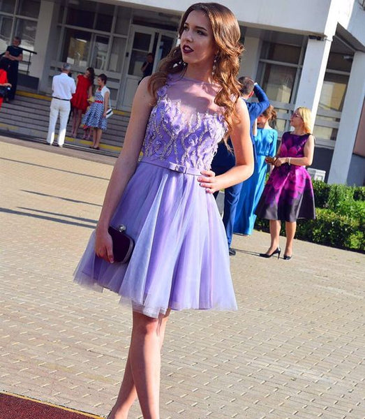 Charming Prom Dress, Sleeveless Sexy Tulle Homecoming Dress S23677