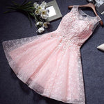 Pink Homecoming Dresses,Lace Homecoming Dress,A Line Homecoming Dresses S23554