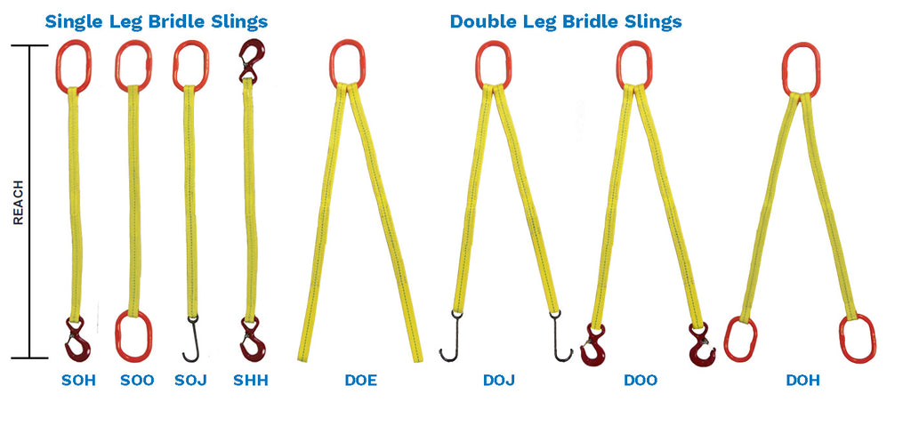 Web Bridle Slings 1-Leg and 2-Legs