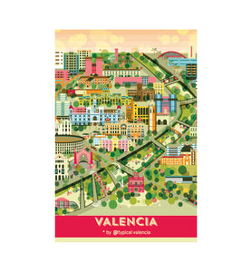POSTAL / POSTCARD MAPA CITY CENTER VALENCIA