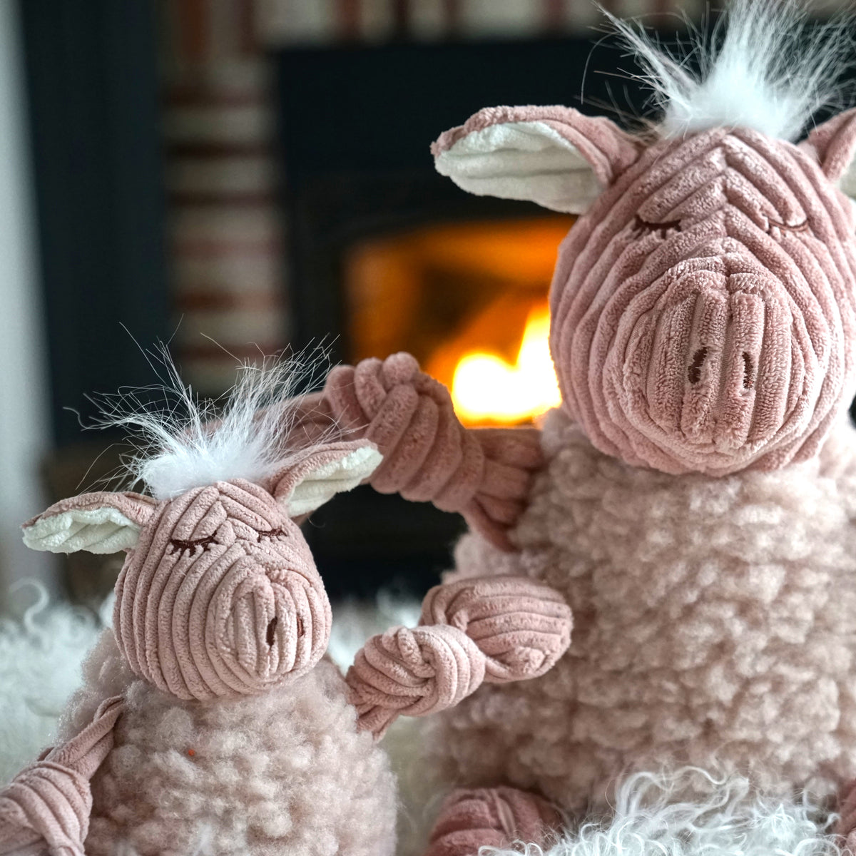 HuggleFleece® FlufferKnottie™ Penelope the Pig
