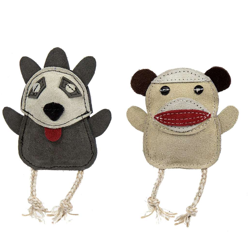 Wee Buddies Sock Monkey & Raccoon