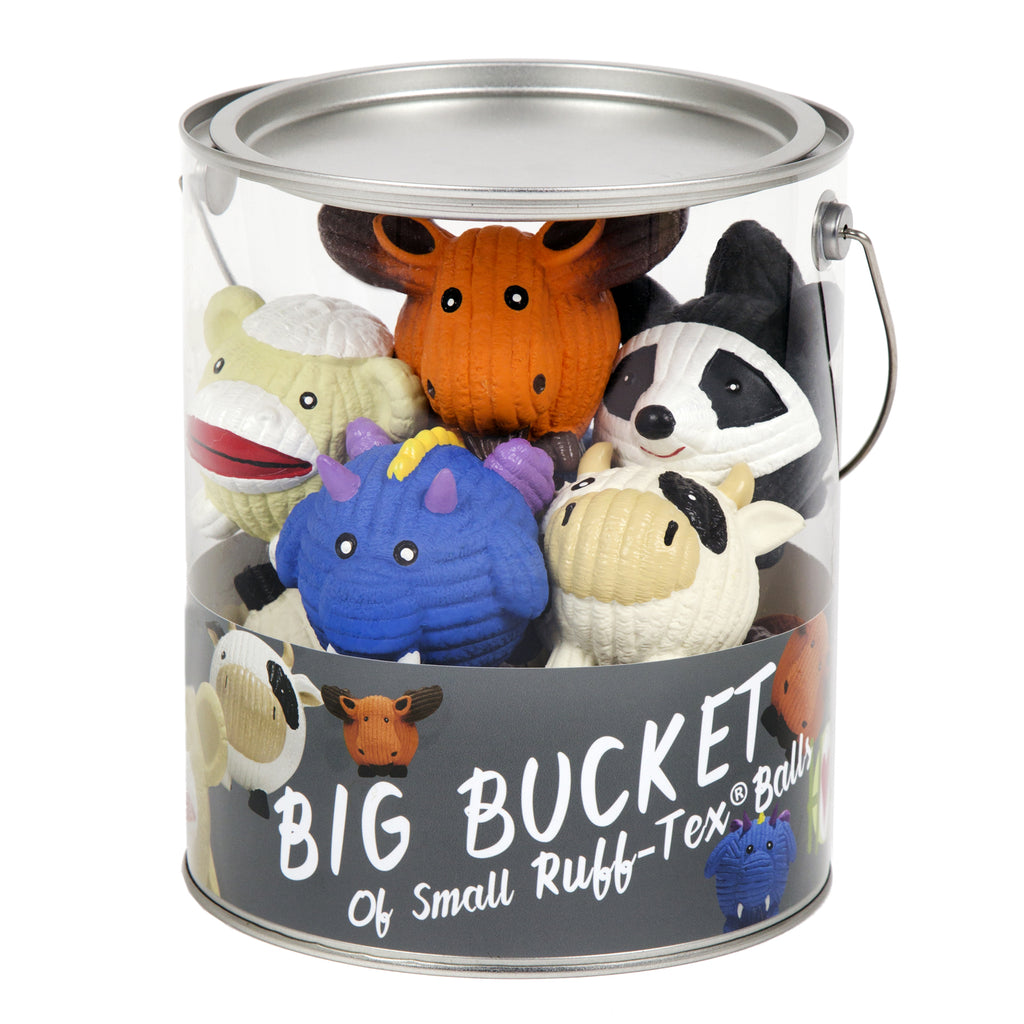 Ruff-Tex® Bucket of  Balls (10 pieces of small Ruff-Tex® balls)