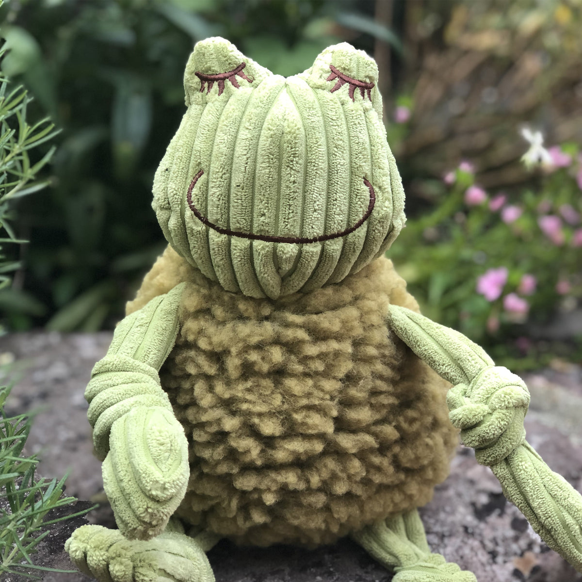 HuggleFleece®  FlufferKnottie™ Fiona the Frog