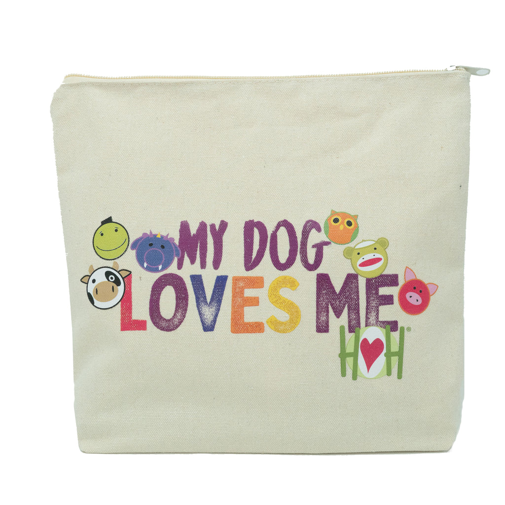 "HuggleHounds® ""My Dog Loves Me"" Zippered Pouch"