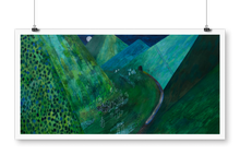 "Load image into Gallery viewer, ""Green mountains"" giclée print"