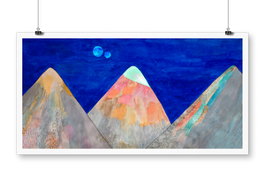 """Three mountains"" giclée print"