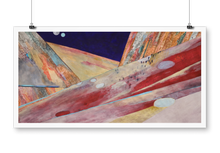 "Load image into Gallery viewer, ""Red mountains"" giclée print"