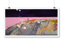 "Load image into Gallery viewer, ""Pink sea"" giclée print"