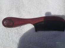 Load image into Gallery viewer, Brothers Bear Fine Tooth Gus Grizzly Violet wood handled Comb