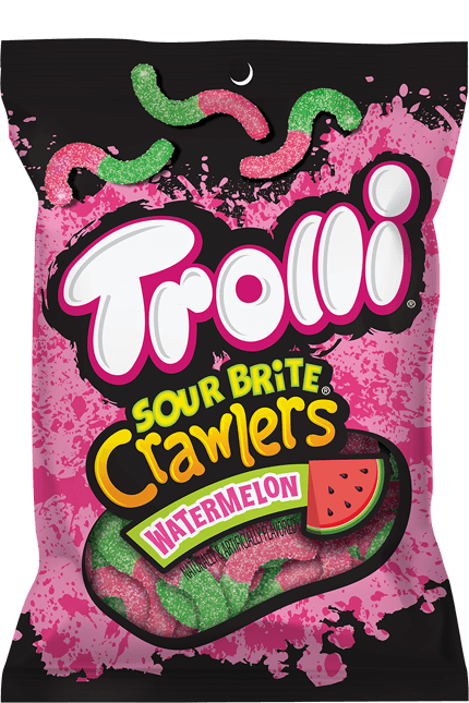 Trolli Sour Brite Crawlers Watermelon-Exotic Pop
