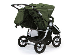 Bumbleride Indie Twin Double Stroller 2018 2019 - Camp Green Rear View