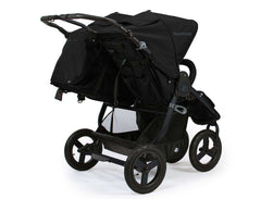 Bumbleride Indie Twin Double Stroller 2018 2019 Matte Black Rear View