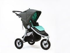 Bumbleride Reversible Seat Liner - Dawn Grey Mint on Indie Stroller