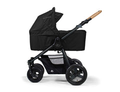 Bumbleride Era Reversible Seat Stroller Matte Black with Bassinet Accessory