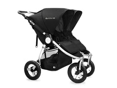 2017 Bumbleride Indie Twin Double Stroller - Silver Black