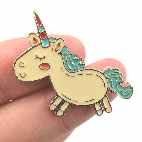 Unicorn Metal Pin - luwaluwashop