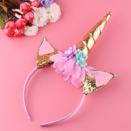 Gold or Silver Unicorn Handmade Headband - luwaluwashop