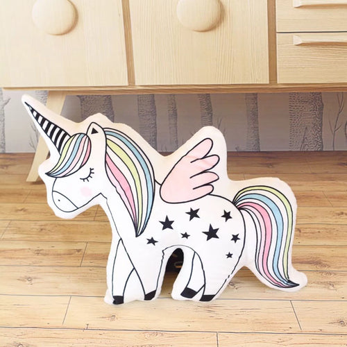 Unicorn-Stars Stuffed Plush Pillow - luwaluwashop