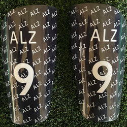 Black Name and Number Shin Pads