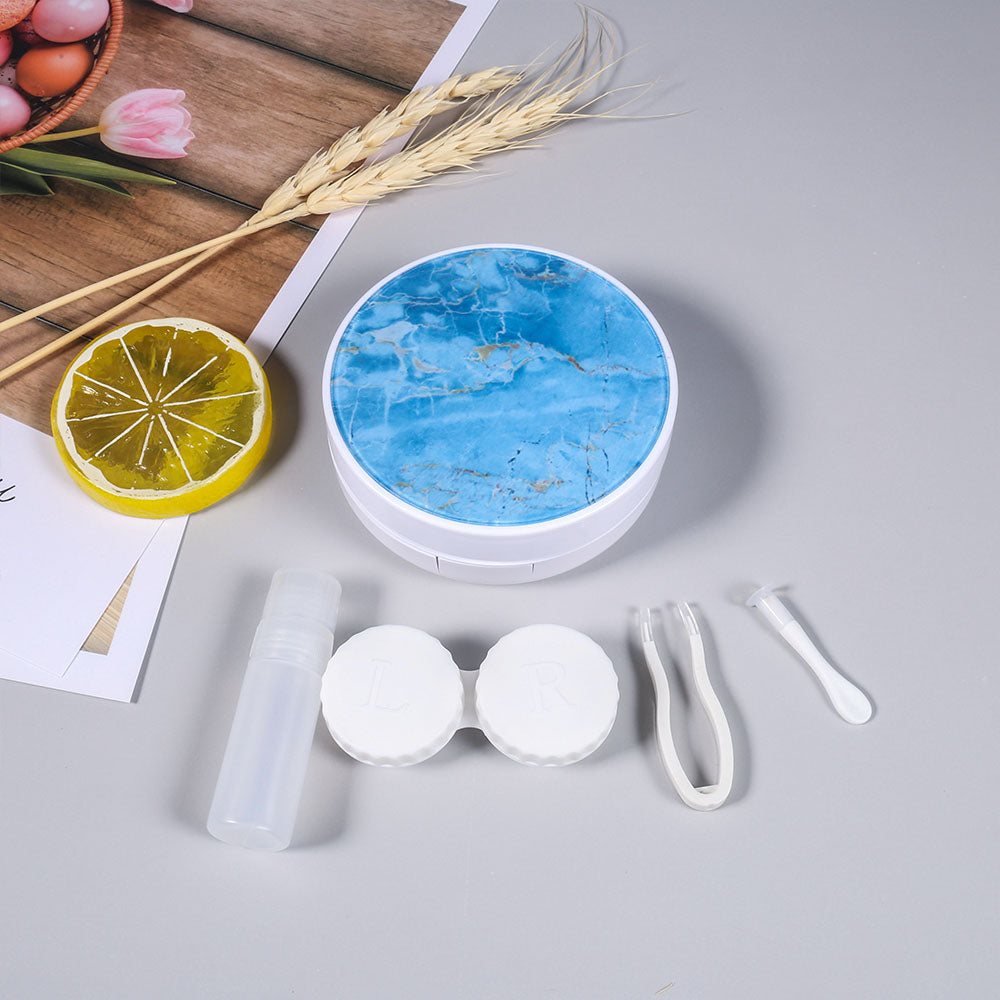 Marble Contact Lens Case