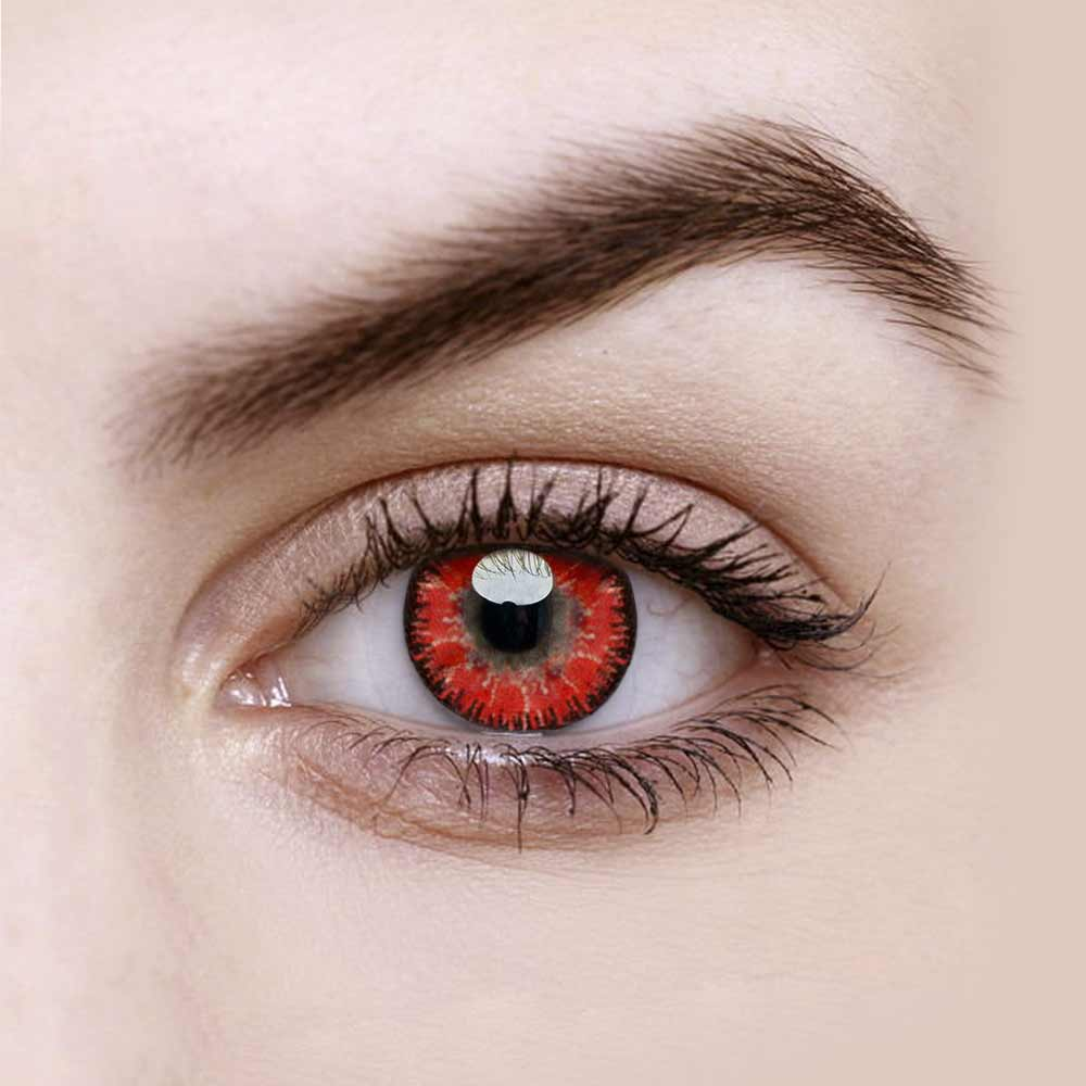 Vandora Elf Red Colored Contact Lenses