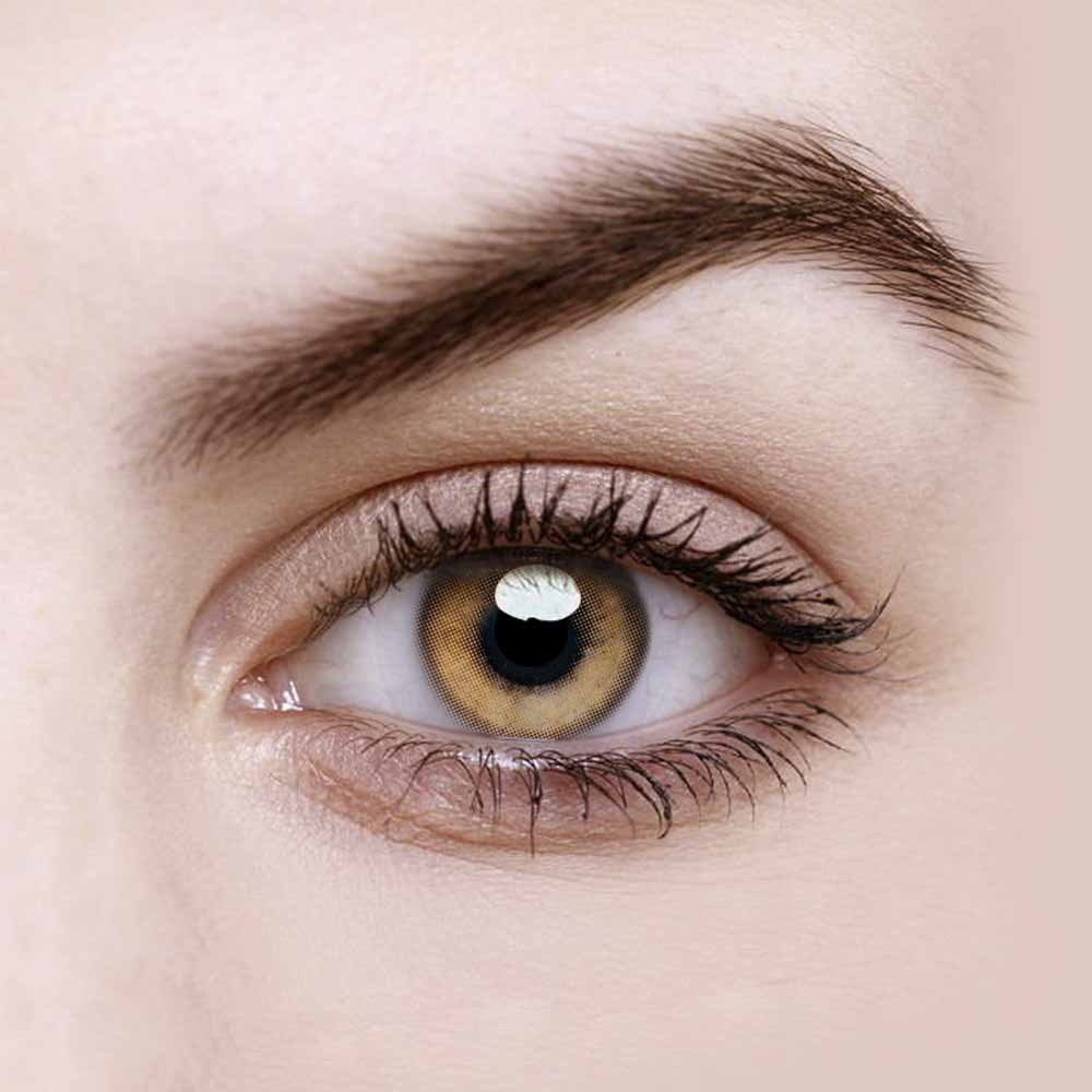 Vandora Party Fragrant Honey Brown Colored Contact Lenses