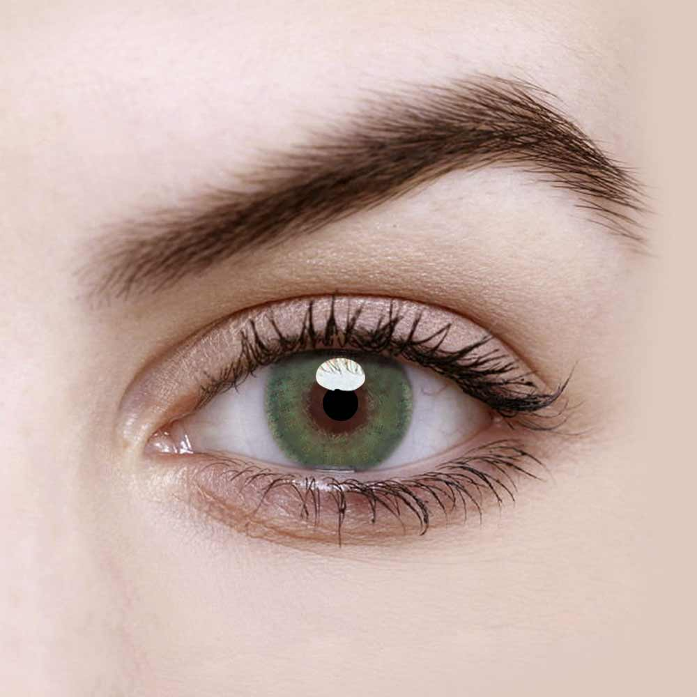Vandora Natural Huda Bee Green Colored Contact Lenses